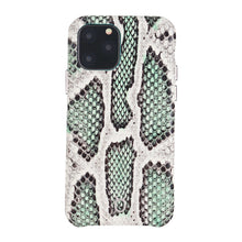 Load image into Gallery viewer, iPhone 11 Pro Italian Python Series Leather Case - Green