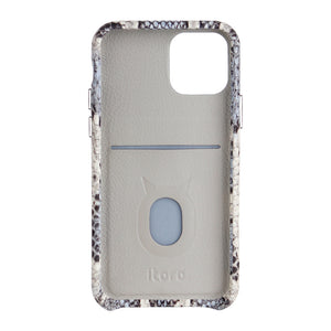 iPhone 11 Pro Italian Python Series Leather Case - White