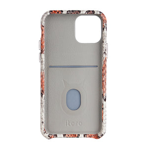iPhone 11 Italian Python Series Leather Case - Orange