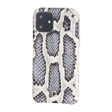 Load image into Gallery viewer, iPhone 11 Italian Python Series Leather Case - White