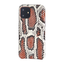 Load image into Gallery viewer, iPhone 11 Italian Python Series Leather Case - Orange
