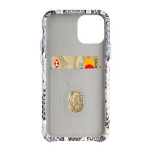 iPhone 11 Pro Max Italian Python Series Leather Case - White