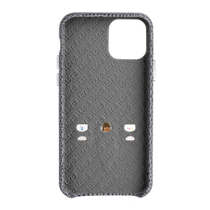 iPhone 11 Italian Lizard Leather Case with Multiple standing function - Black
