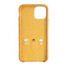 Load image into Gallery viewer, iPhone 11 Italian Lizard Leather Case with Multiple standing function - Orange