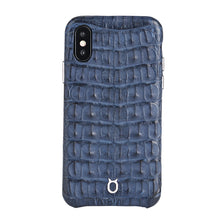 Load image into Gallery viewer, Limited Edition Deep Blue Crocodile iPhone 11 Pro Max Case