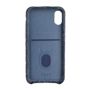 Limited Edition Deep Blue Crocodile iPhone XS Case