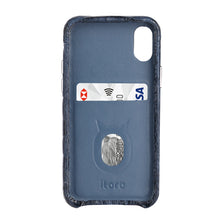 Load image into Gallery viewer, Limited Edition Deep Blue Crocodile iPhone 11 Pro Max Case - Croc Back