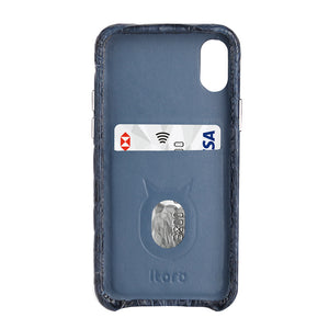 Limited Edition Deep Blue Crocodile iPhone 11 Pro Max Case - Croc Back