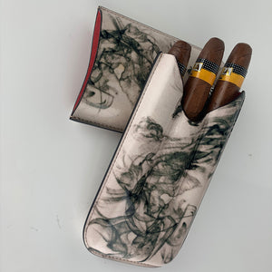 Classy Italian Premium Leather Jellyfish Design Cigar Case
