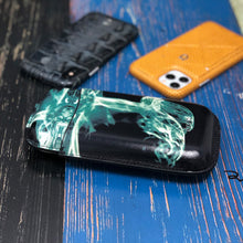 Load image into Gallery viewer, Classy Italian Premium Leather Jellyfish Design Cigar Case