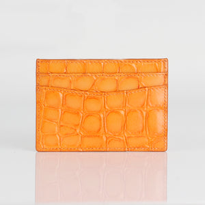 Crocodile embossed Premium leather Credit card case