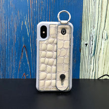Load image into Gallery viewer, Crocodile embossed kickstand Series iPhone XS Case with finger ring