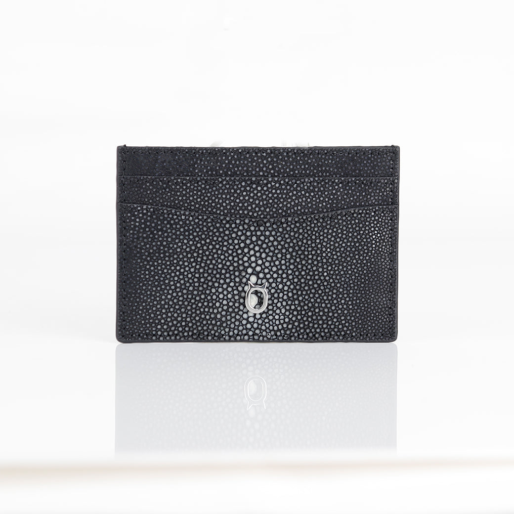Limited Edition Genuine Devil Fish Skin Credit Card Case