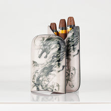 Load image into Gallery viewer, Classy Italian Premium Leather Dragon Design Cigar Case