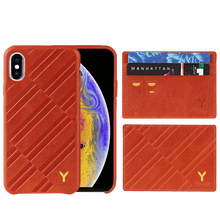 Load image into Gallery viewer, (GIFT SET) ITALY Embossed Leather All Wrapped Case with Credit Card Case iPhone Xs Max
