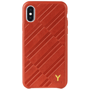 ITALY Embossed Leather All Wrapped Case iPhone XS