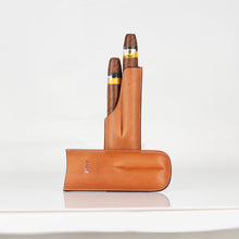 Load image into Gallery viewer, Brown Classy Italian Premium Leather Cigar Case