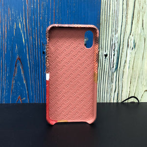 "Limited Edition Multicolor ""6"" Croco &  Lizard iPhone XS Case - Orange Red/Brown/Red"