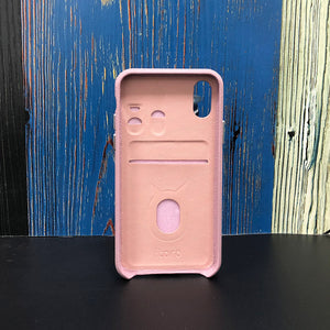 "Multicolor ""2"" Snake embossed leather iPhone XS Case - Pink"