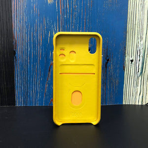 "Multicolor ""2"" Snake embossed leather iPhone XS Case - Yellow"