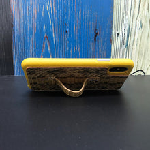 "Load image into Gallery viewer, Multicolor ""2"" Snake embossed leather iPhone XS Case - Yellow"