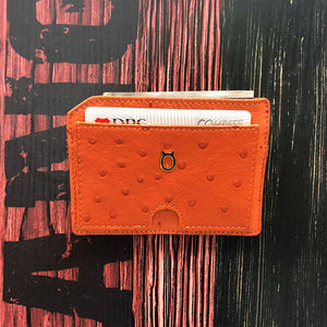 Ostrich Premium Skin Multi Card Zero Wallet / Mini Size Wallet