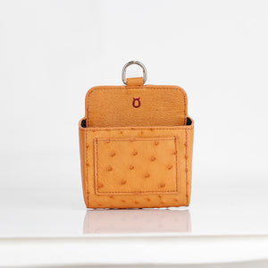 Ostrich Premium Leather Multifunctional Car Stick Bag
