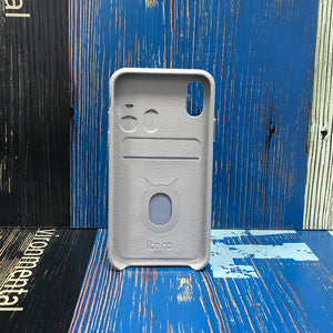 Ostrich detachable Kickstand Leather Case iPhone XS - Gray