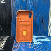 Load image into Gallery viewer, Ostrich detachable Kickstand Leather Case iPhone XS - Orange