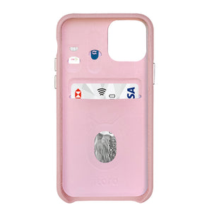 "Multicolor ""2"" Snake embossed leather iPhone 11 Case - Pink"