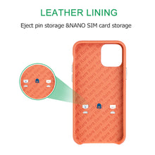 Load image into Gallery viewer, Ostrich Leather Phone Case with stand function_ iPhone 11