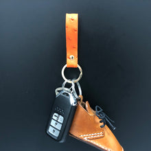 Load image into Gallery viewer, Simplicity Ostrich Premium Skin High Grade Keychain