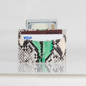 Snake embossed Premium leather Credit card case
