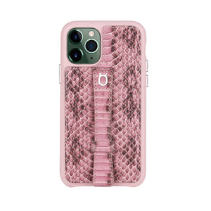 "Multicolor ""2"" Snake embossed leather iPhone 11 Pro Max Case - Pink"