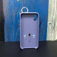 Load image into Gallery viewer, Snake embossed series edition Italian Leather kickstand Case iPhone XS - Blue