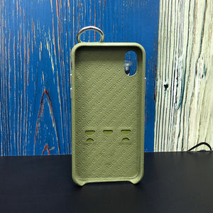 Snake embossed series edition Italian Leather kickstand Case iPhone XS - Green