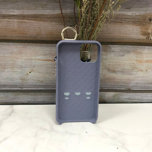 Snake embossed series edition Italian Leather kickstand Case iPhone 11 - Blue
