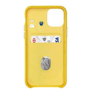 "Multicolor ""2"" Snake embossed leather iPhone 11 Pro Case - Yellow"