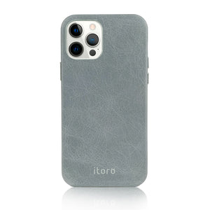 iPhone 12 | 12 Pro Leather Case_ITALY Leather - Cool grey