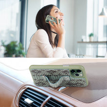 "Load image into Gallery viewer, Multicolor ""2"" Snake embossed leather iPhone 11 Pro Case - Green"