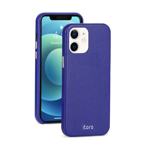 iPhone 12 Mini Leather Case_ITALY Leather - Sapphire Blue