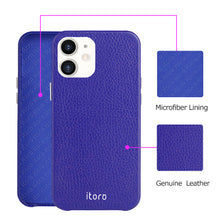 Load image into Gallery viewer, iPhone 12 Mini Leather Case_ITALY Leather - Sapphire Blue