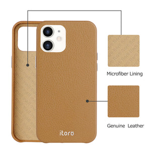 iPhone 12 Mini Leather Case_ITALY Leather - Retro Brown