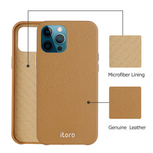 Load image into Gallery viewer, iPhone 12 | 12 Pro Leather Case_ITALY Leather - Retro Brown