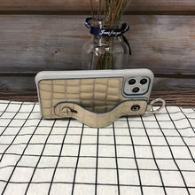 Load image into Gallery viewer, Crocodile embossed kickstand Series iPhone 11 Case with finger ring