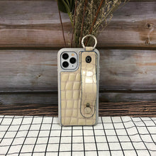 Load image into Gallery viewer, Crocodile embossed kickstand Series iPhone 11 Pro Case with finger ring
