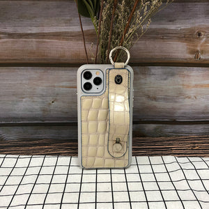 Crocodile embossed kickstand Series iPhone 11 Pro Max Case with finger ring