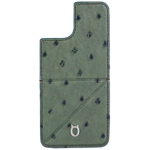 Ostrich detachable Kickstand Leather Case iPhone 11