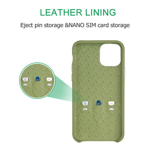 Ostrich Leather Phone Case with stand function_ iPhone 11