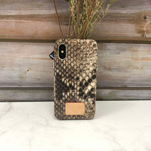 Load image into Gallery viewer, iPhone XS Limited Python Snake Skin Phone Case